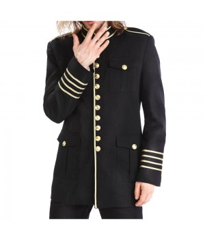 Search - Tag - Men Military Gold Button Coat