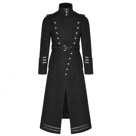 Men Military Coat Steampunk Gothic VTG Uniform Long Coat