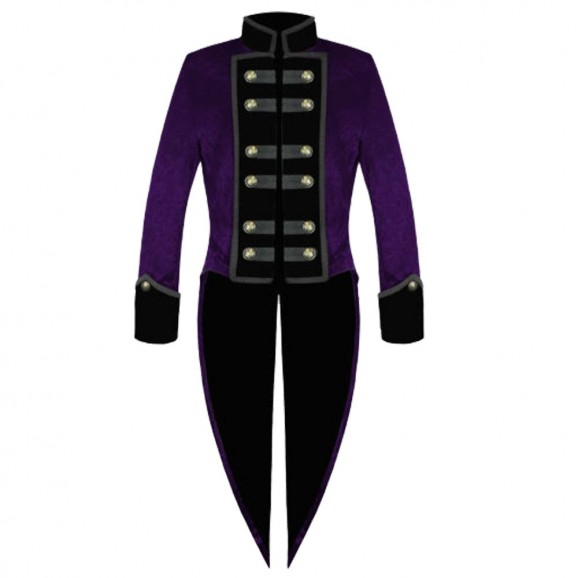Men Victorian Purple Tailcoat