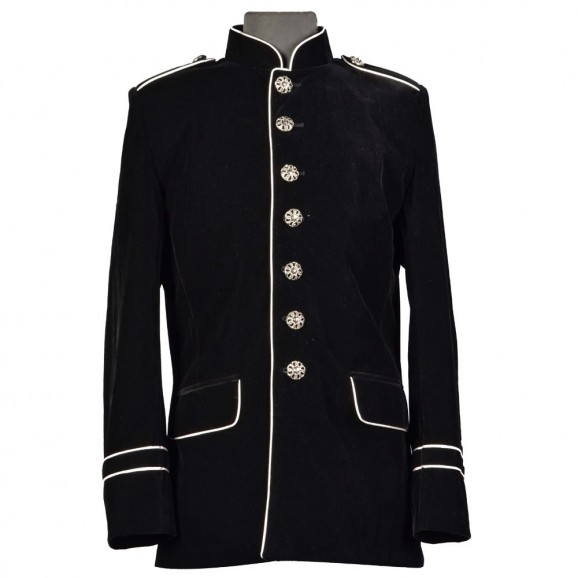 Men Military Style Coat Steampunk VTG Goth Coat