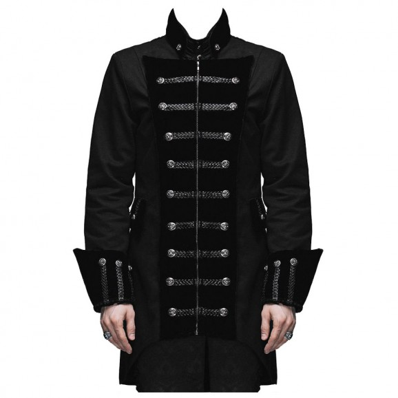 Men Steampunk Velvet Frock Fashion Coat