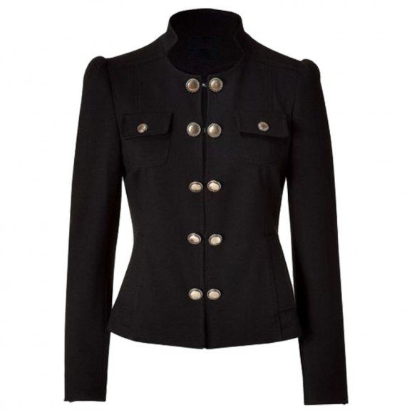 Women Blazer Jacket With Brass Buttons