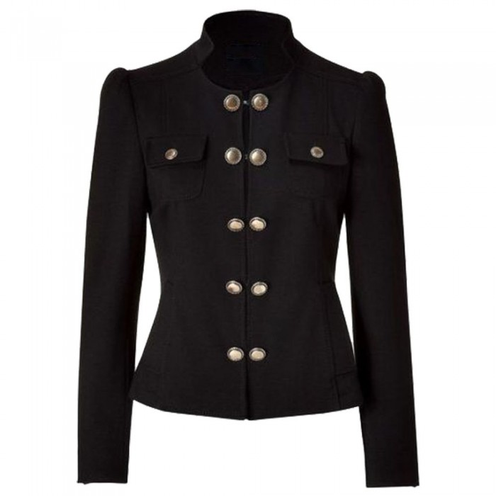 Women Blazer Jacket With Brass Buttons   Women Gothic Clothing