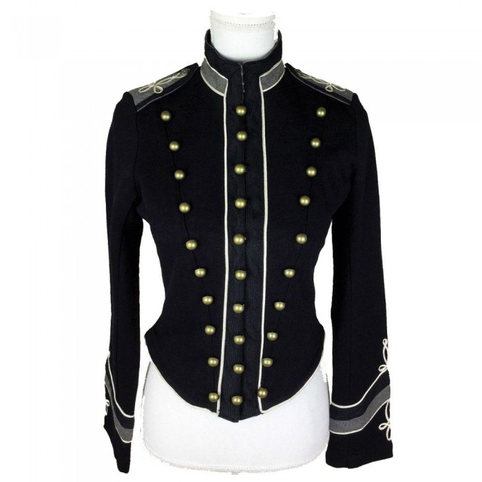 b48bc65c Ralph Lauren Denim Supply Women Military Army Embroidered Officer Band Coat