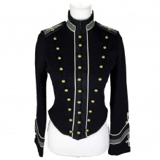Ralph Lauren Women Military Embroidered Band Gothic Coat