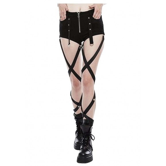 Women high waisted hot pant Women Gothic Pant