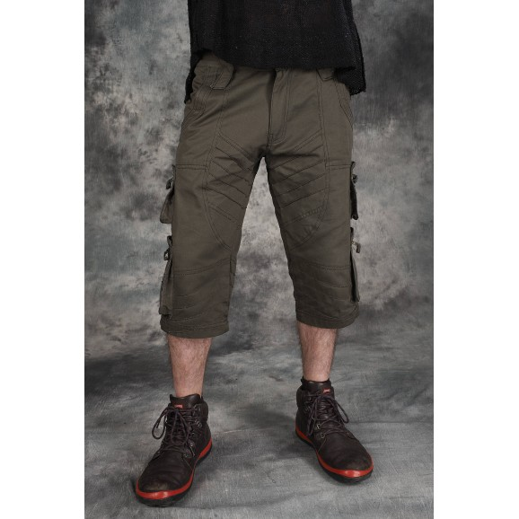 Men Gothic Cargo Tribal Short Pant Men Gothic Pants