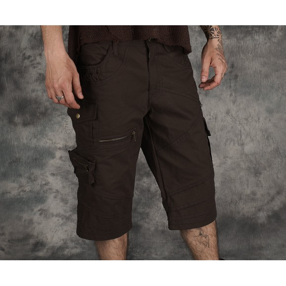 Men Cargo Psychedelic Short Men Gothic Pants