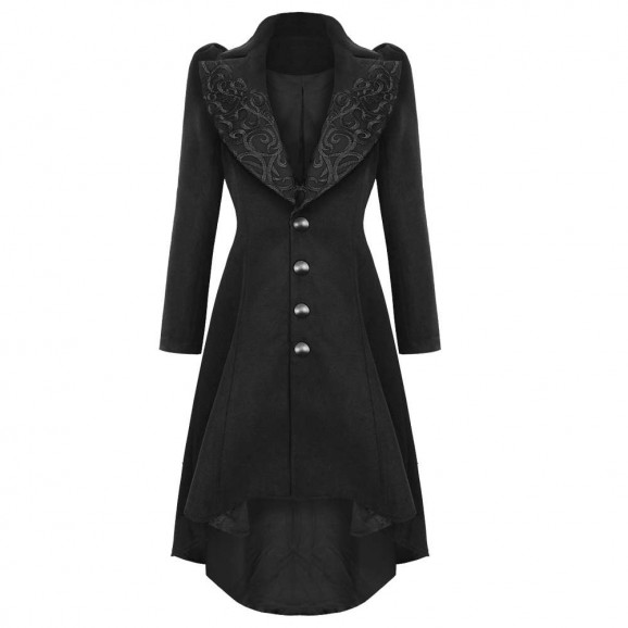 Women Steampunk Vintage Long Coat