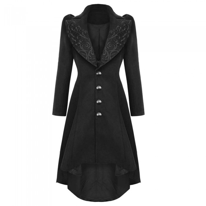 Women Steampunk Style Vintage Long Coat Women Gothic Coat