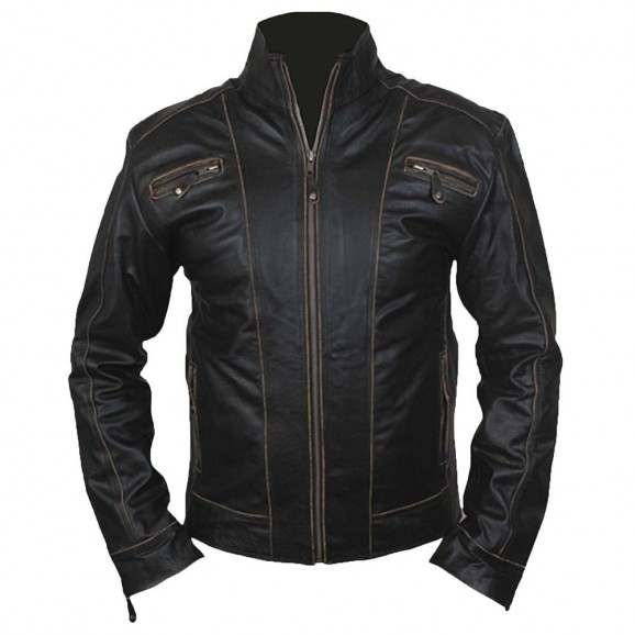 New Genuine Lambskin Leather Designer Jacket Motorcycle Biker Men
