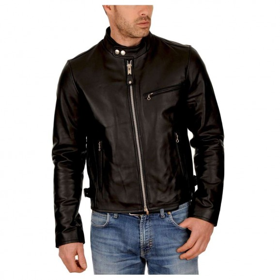 Men Leather Jacket Slim Fit Biker Motorcycle Genuine Lambskin Jacket