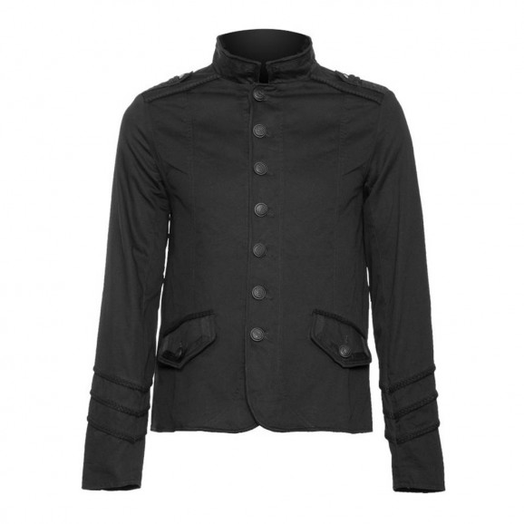 Mens officer jacket with braided lining Men Gothic Jacket