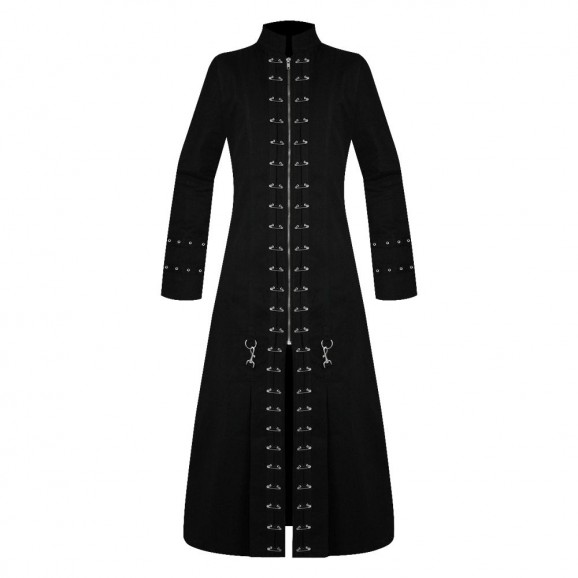 Gothic Vampire Jacket Pin Head Trench Coat Hellraiser Coat