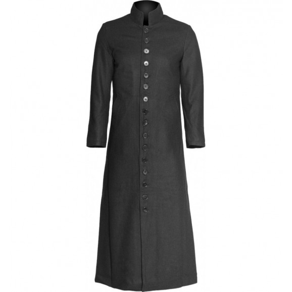 Men Goth Preachermand Wool Sixteen Button Men Coat