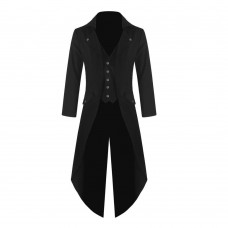 Mens Gothic Steampunk Tailcoat Victorian Tailcoat Jacket