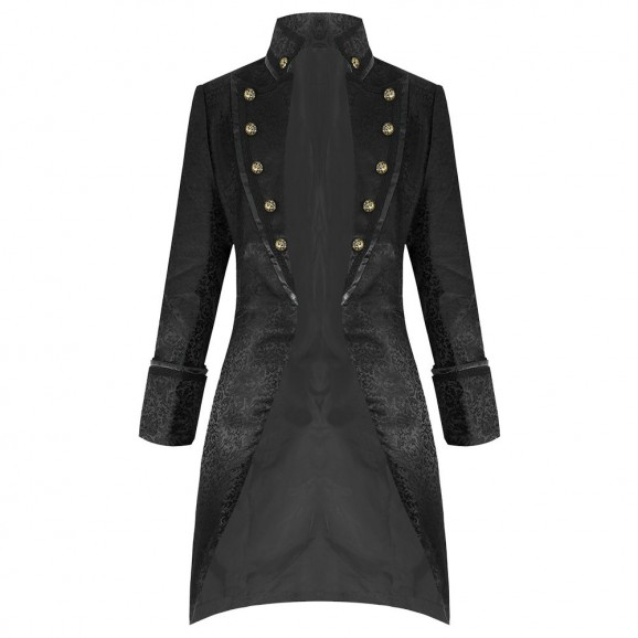 Pentagramme Salvatore Black Mens Coat