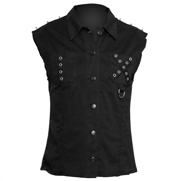 Men Sleeveless Gothic Shirt