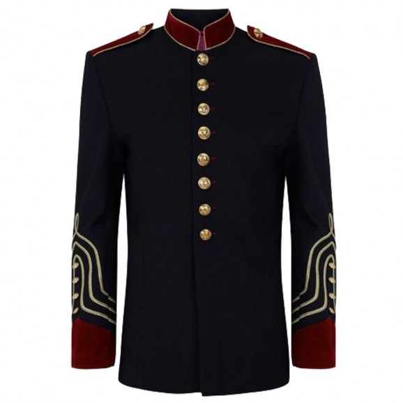 Men Military style Lace Coat