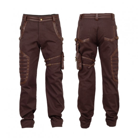 Steampunk Dystonia Brown Trouser