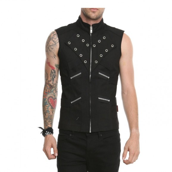 Men Vest With Zips
