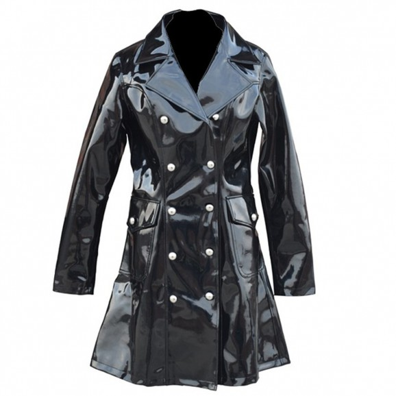 Women Gothic Vinyl Jacket PVC Elegant Star Jacket