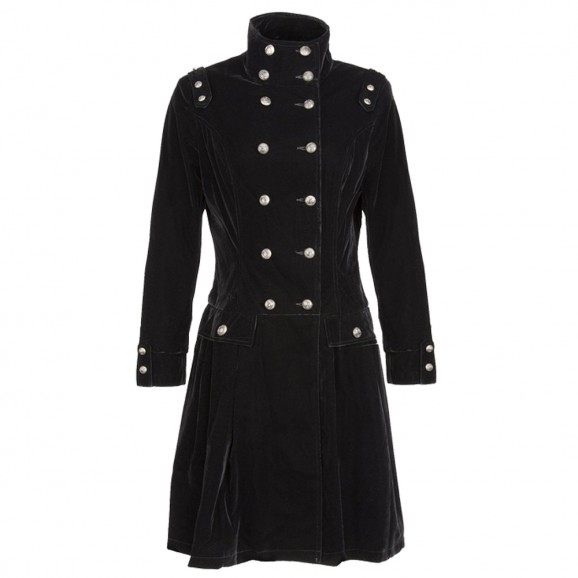 Women Black Velvet Coat Alternative Fashion Style Women Gothic Velvet Coat