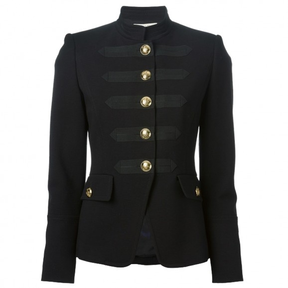 Women Gothic Military Coat Black Fashion Jacket Army Style Coat For Women