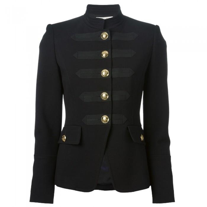 Women Gothic Military Coat Black Fashion Army Style Coat