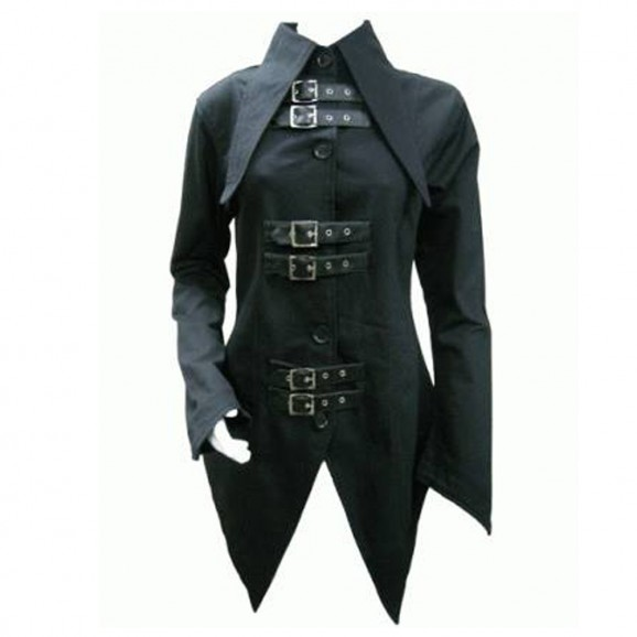 Women Bondage Coat Gothic Tail Jacket