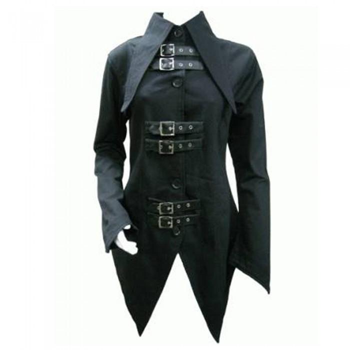 Women Bondage Coat Gothic Tail Jacket | Women Gothic Clothing