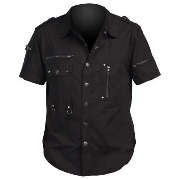 Men Gothic Cotton Shirt