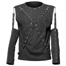 Men Removable sleeve Gothic Shirt