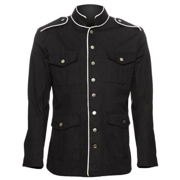 Men Military Style Gothic Coat