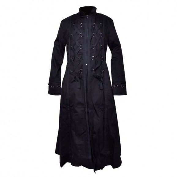 Men Long Bondage Style Gothic Coat