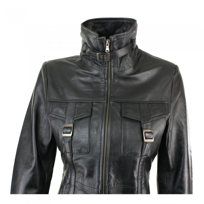 f302f8cedce6 Women Vintage Soft Leather Jacket Women Trench Fashion Coat