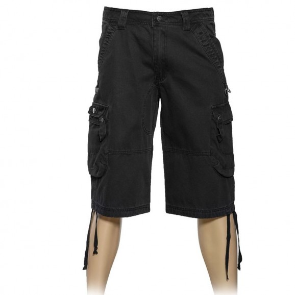 Gothic Cargo Shorts Punk Men Black Cargo Short