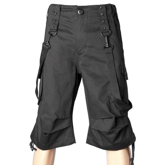 Men Gothic Shorts Punk Bondage Straps Short
