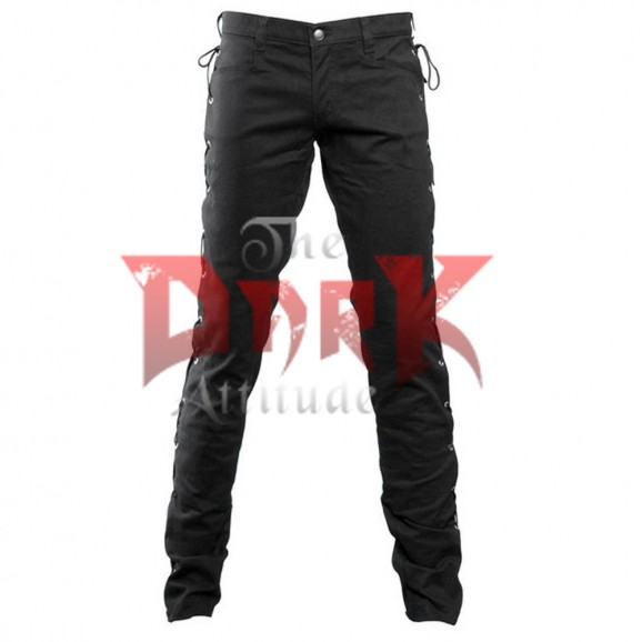 Men Gothic Cyber Punk Lace Pant