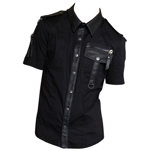 Gothic Dead Nation Security Clearance Shirt Black Goth