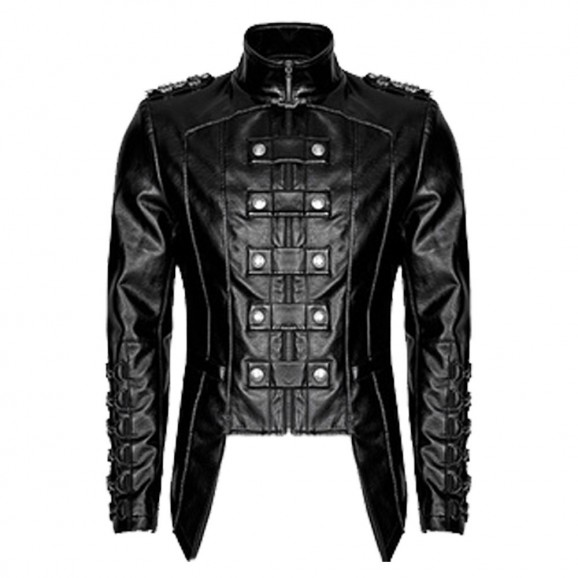Men-Jacket-Heavy-Fashion-Design-Pu-Leather-Military-Jacket-Uniform