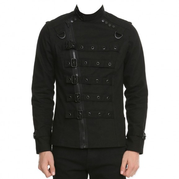 Men Punk EMO Psycho Bondo Gothic Jacket