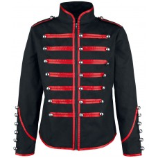 Men Military Steampunk Red Parade Marching Drummer Jacket