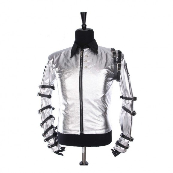 Men Punk MJ Classic Bad Tour Jacket Gothic Silver Bodysuit jacket For Men