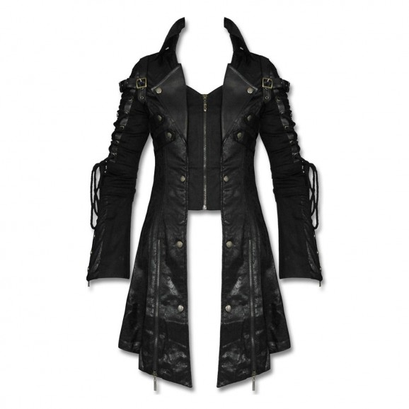 Goth Steampunk Military Long Jacket Punk Poison