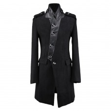Men Trench Wool Coat Gothic Personalized Coat
