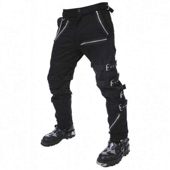 Men's Black Goth Punk Dead Thread Morte Pant