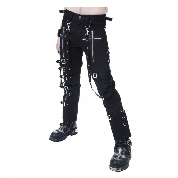 Goth Pant Dead Threads Buckles Zips Chains Straps Black Trousers Cyber Punk Trou
