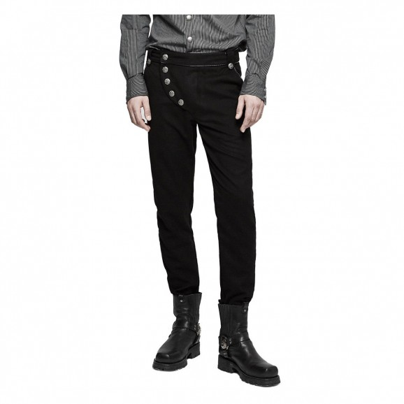 Men Military Steampunk Gothic Army Uniform Trousers Pant