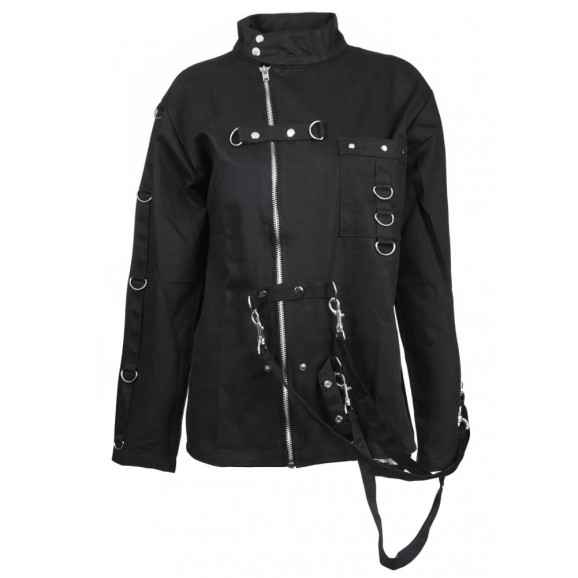 Women's Bondage Jacket Women High Neck Gothic Cotton Jacket